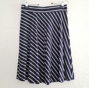 Ann Taylor Rope Skirt Blue Size Small